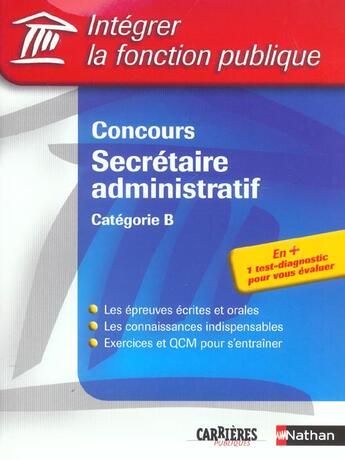 Couverture du livre « Concours secret administ ifp (édition 2003) » de Tuccinardi/Gabillet aux éditions Nathan