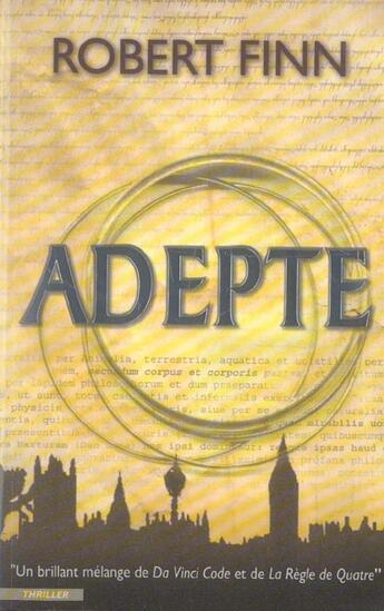 Couverture du livre « Adepte de robert finn » de Finn-R aux éditions City
