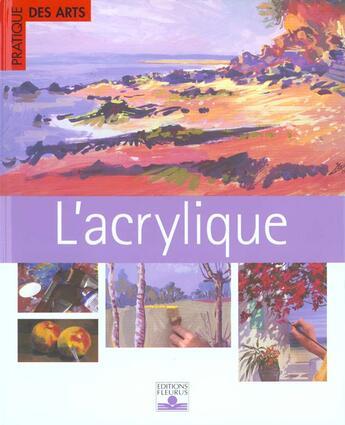 Couverture du livre « Acrylique » de Collectif aux éditions Fleurus