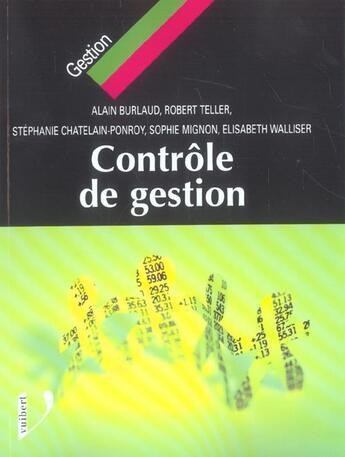 Couverture du livre « Controle De Gestion » de Burlaud A. aux éditions Vuibert