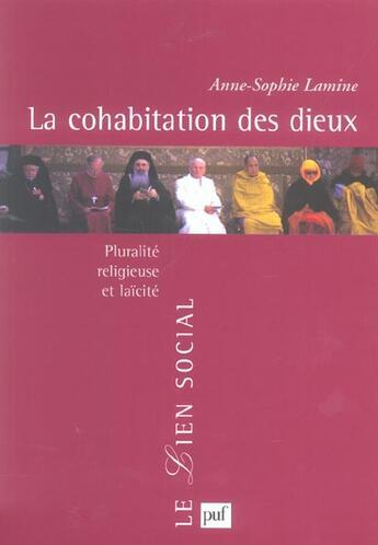 Couverture du livre « La cohabitation des dieux » de Anne-Sophie Lamine aux éditions Puf