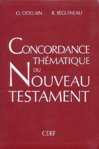 Couverture du livre « Concordance thématique du Nouveau testament » de Collectif aux éditions Cerf