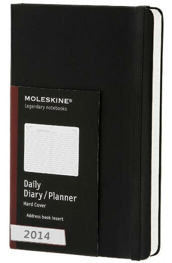 Couverture du livre « Agenda journalier 2014 grand format noir couverture rigide » de Moleskine aux éditions Moleskine