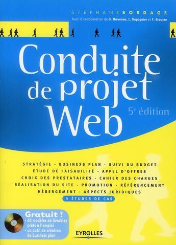 Couverture du livre « Conduite de projet web (5e édition) » de Stephane Bordage aux éditions Eyrolles