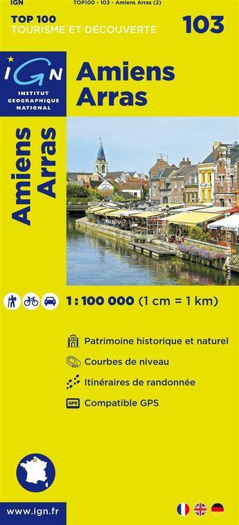 Couverture du livre « Amiens, Arras » de Collectif Ign aux éditions Ign