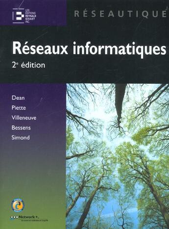 Couverture du livre « Les reseaux informatiques » de Dean aux éditions Reynald Goulet