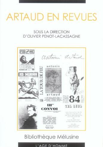 Couverture du livre « Artaud En Revues » de Collectif aux éditions L'age D'homme