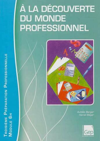 Couverture du livre « à la découverture du monde professionnel ; élève ; module 6h » de Herve Meyer et Aurelie Berger aux éditions Gep