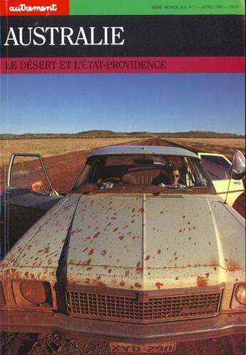 Couverture du livre « Australie Le Desert De L'Etat Providence » de Michele Decoust aux éditions Autrement