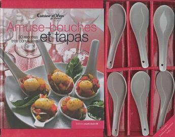Couverture du livre « Amuse bouches et tapas ; coffret » de Collectif aux éditions Marie-claire