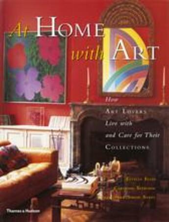 Couverture du livre « At home with art » de Ellis Estelle & Seeb aux éditions Thames & Hudson