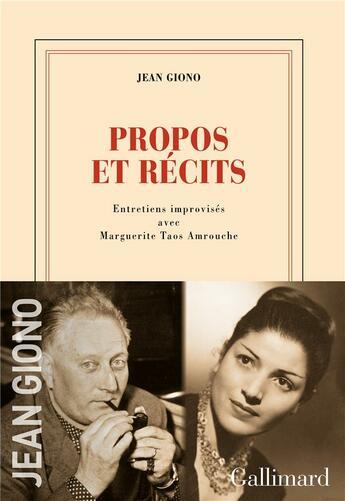 Couverture du livre « Entretiens avec Jean Amrouche et Taos Amrouche » de Jean Giono et Jean Amrouche et Taos Amrouche aux éditions Gallimard