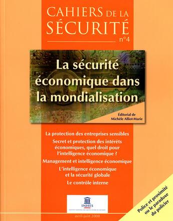Couverture du livre « Cahiers de la securité (juin 2008) » de Collectif aux éditions Documentation Francaise