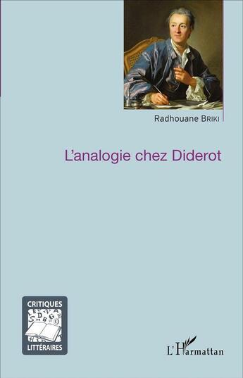 Couverture du livre « Analogie Chez Diderot » de Briki Radhouane aux éditions Harmattan