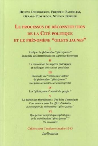 Couverture du livre « Le processus de déconstitution de la cité politique et le phénomène