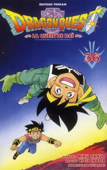 Couverture du livre « Dragon quest - la quête de Daï T.36 » de Riku Sanjo et Koji Inada aux éditions Delcourt