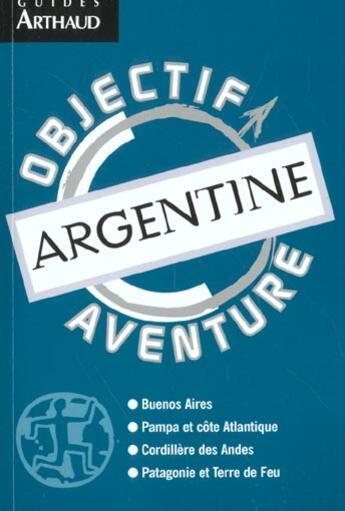 Couverture du livre « Argentine » de Olivier De Cartagena aux éditions Arthaud