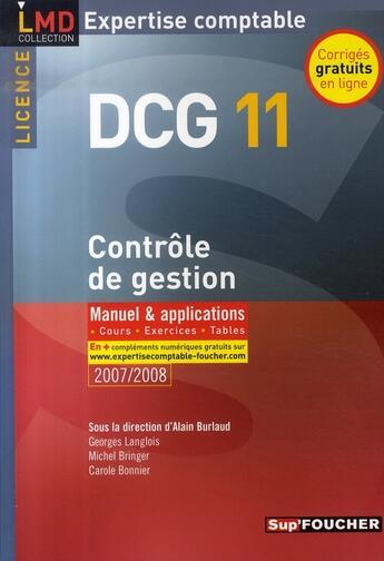 Couverture du livre « Contrôle de gestion ; dcg 11 » de G Langlois aux éditions Foucher