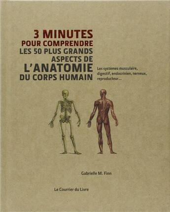 Couverture du livre « 3 Minutes Pour Comprendre ; Les 50 Plus Grands Aspects De L'Anatomie Du Corps Humain » de Gabrielle M. Finn aux éditions Courrier Du Livre