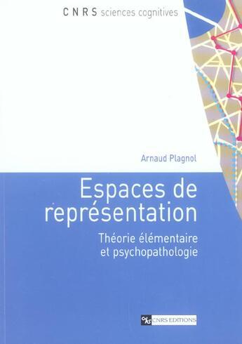 Couverture du livre « Espaces De Representation » de Plagnol Arnaud aux éditions Cnrs