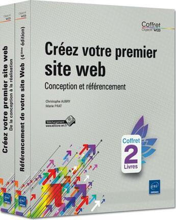 Couverture du livre « Créez votre premier site web ; conception et référencement » de Marie Prat et Christophe Aubry aux éditions Eni
