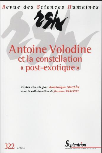 Couverture du livre « Revue Des Sciences Humaines, N 322/Avril - Juin 2016 » de Soules D Traisnel aux éditions Pu Du Septentrion