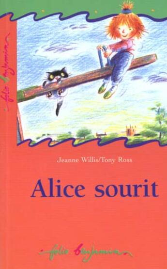 Couverture du livre « Alice Sourit » de Jeanne Willis aux éditions Gallimard-jeunesse