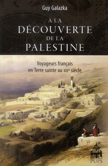 Couverture du livre « A La Decouverte De La Palestine » de Galaska Guy aux éditions Pu De Paris-sorbonne