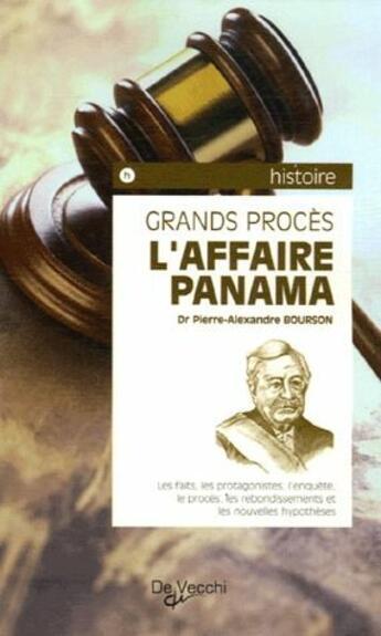 Couverture du livre « Affaire Panama (L) » de Bourson Pierre Alexa aux éditions De Vecchi