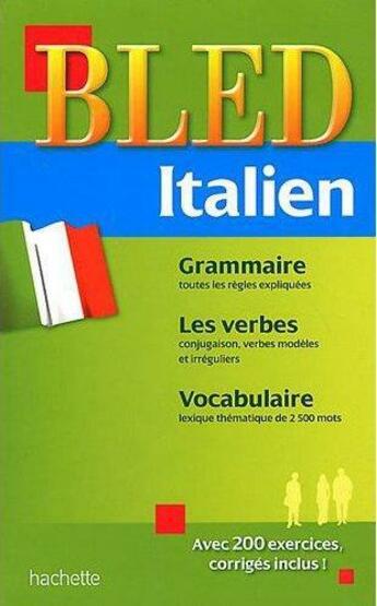 Couverture du livre « Bled ; Italien » de C Boi et D Gas aux éditions Hachette Education
