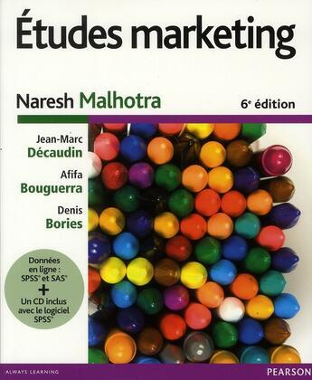 Couverture du livre « Études marketing (6e édition) » de Naresh Malhotra aux éditions Pearson