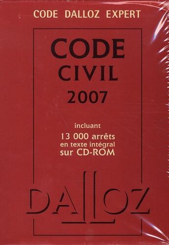 Couverture du livre « Code civil (édition 2007) » de Collectif aux éditions Dalloz