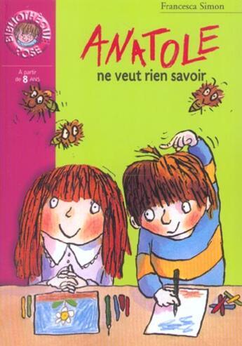 Couverture du livre « Anatole Ne Veut Rien Savoir » de Simon F aux éditions Hachette Jeunesse