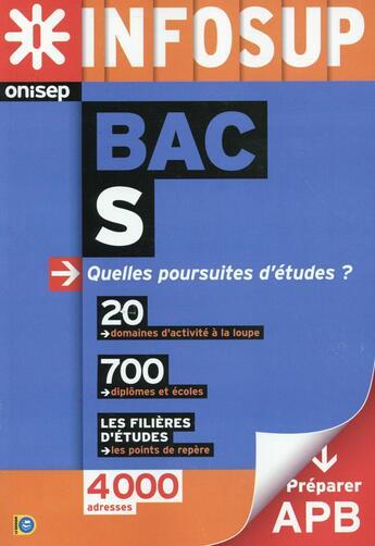 Couverture du livre « Après le bac S » de Collectif aux éditions Onisep