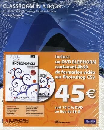 Couverture du livre « Adobe photoshop cs3 + dvd elephorm » de  aux éditions Pearson