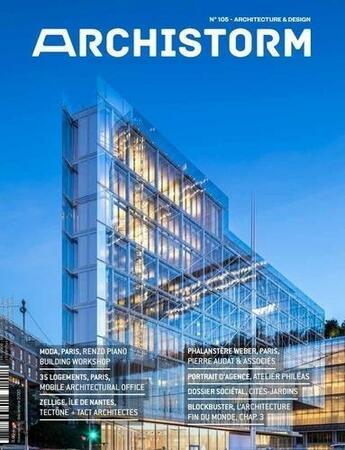 Couverture du livre « Archistorm n 105 - novembre/decembre 2020 » de Collectif aux éditions Archistorm