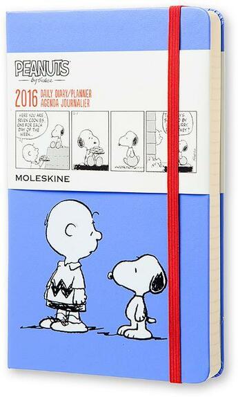 Couverture du livre « Agenda peanuts journalier 2016 grand format couverture rigide » de Collectif aux éditions Moleskine