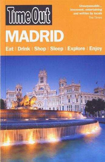 Couverture du livre « **Madrid » de Collectif aux éditions Time Out
