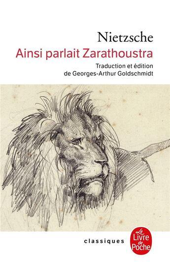 Couverture du livre « Ainsi parlait zarathoustra » de Friedrich Nietzsche aux éditions Lgf