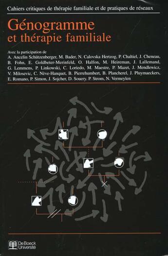 Couverture du livre « CAHIERS CRITIQUES DE THERAPIE FAMILIALE T.25 » de Collectif aux éditions De Boeck