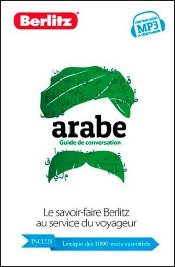 Couverture du livre « Arabe ; guide de conversation » de Collectif aux éditions Berlitz