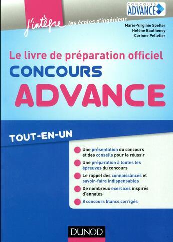 Couverture du livre « Concours Advance ; tout-en-un » de Marie-Virginie Speller et Helene Bautheney et Corinne Pelletier aux éditions Dunod