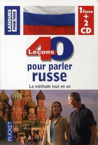 Couverture du livre « 40 leçons pour parler russe » de Chicouene Michel aux éditions Pocket