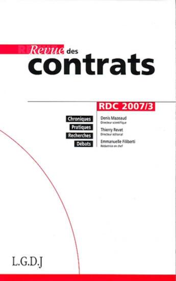 Couverture du livre « (édition 2007) » de Collectif aux éditions Lgdj