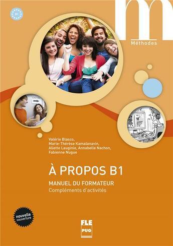Couverture du livre « À propos Bi ; manuel du formateur » de Valerie Blasco aux éditions Pu De Grenoble
