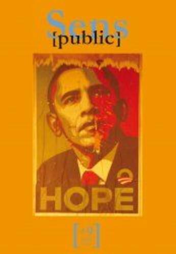 Couverture du livre « CAHIERS SENS PUBLIC T.9 ; Obama ; hope » de Collectif aux éditions Maison Des Sciences De L'homme