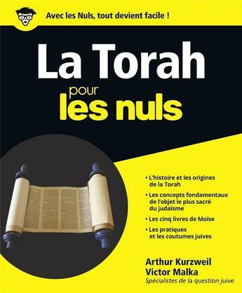 Couverture du livre « La Torah pour les nuls » de Arthur Kurzweil aux éditions First