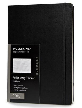 Couverture du livre « Agenda semainier 2015 vertical+ action très grand format couverture rigide » de Moleskine aux éditions Moleskine