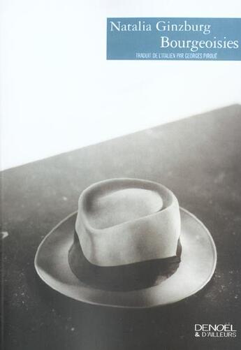 Couverture du livre « Bourgeoisies » de Natalia Ginzburg aux éditions Denoel