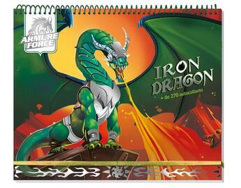 Couverture du livre « Armure force ; iron dragon ; carnet créatif » de Collectif aux éditions Play Bac